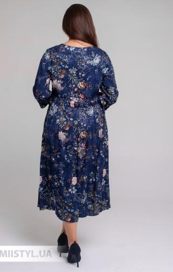 Платье Tessy 6414 Синий/Розовый/Принт