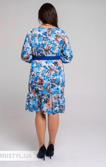 Платье Roxelan 7036 Песочный/Голубой/Принт