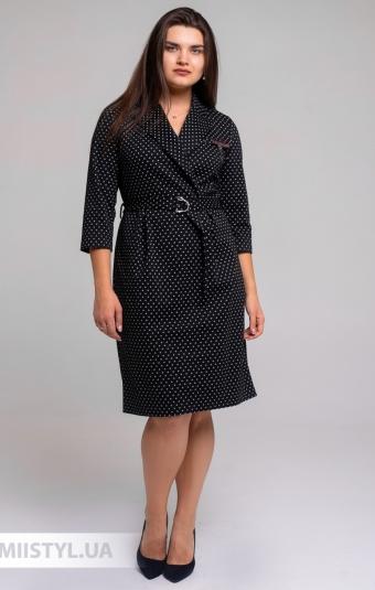 Платье Perzoni 8397B Черный/Белый/Горох