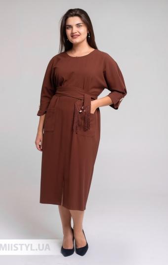 Платье DZYN 7925B Коричневый