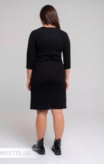 Платье F&K 3529 Черный/Люрекс