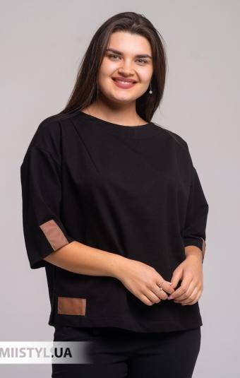 Блуза Nikolo Polini 3128 Черный/Бежевый