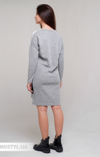 Платье La Fama 1593 Серый/Меланж