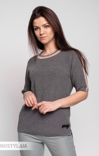 Джемпер короткий рукав Serianno 10C6780 Темно-серый/Люрекс