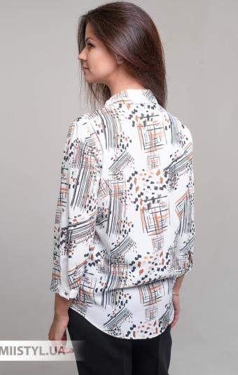 Блуза Fusion 53865M Белый/Терракотовый/Принт