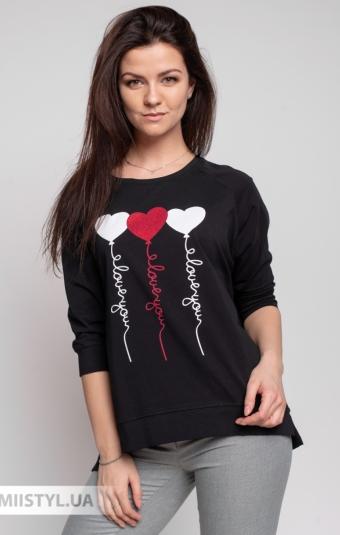 Блуза Giocco 5647 Черный/Принт