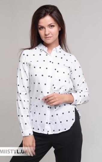 Блуза Patiskha 3373 Белый/Черный/Горох