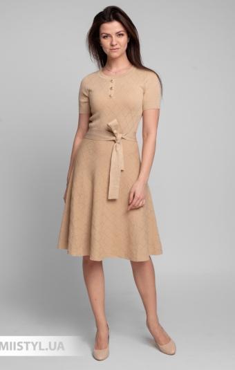 Платье Beauty Women 01609 Бежевый/Люрекс