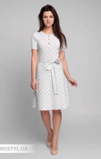 Платье Beauty Women 01609 Белый/Люрекс