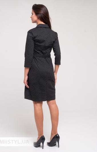 Платье Perzoni 8397 Черный/Белый/Горох
