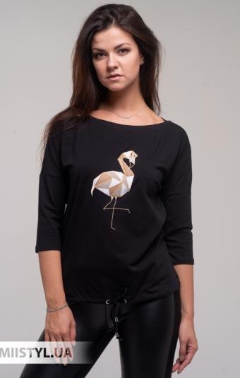 Блуза Giocco 5873 Черный/Принт
