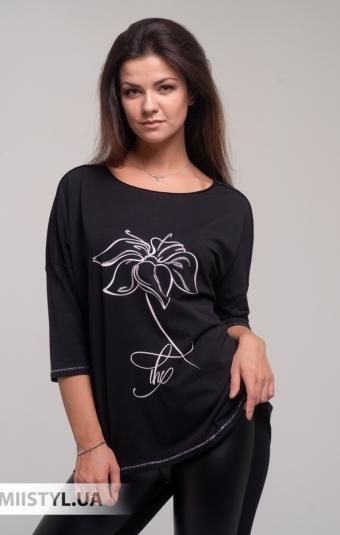 Блуза Giocco 5636 Черный/Принт