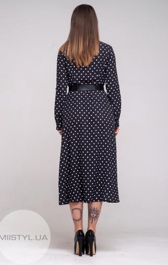 Платье Miss Lilium 19708 Черный/Белый/Горох