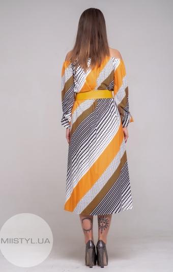 Платье Dojery 182902 Белый/Желтый/Принт