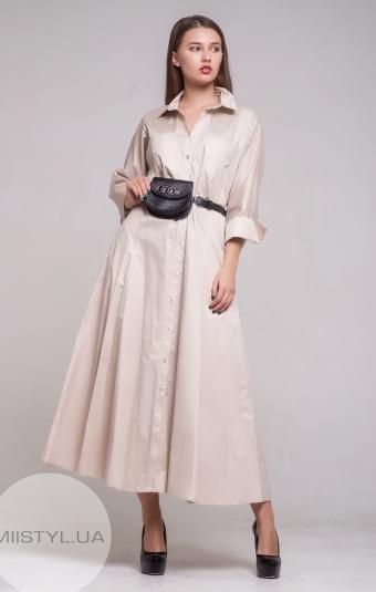 Платье BIZE Fashion 19Y2086 Бежевый