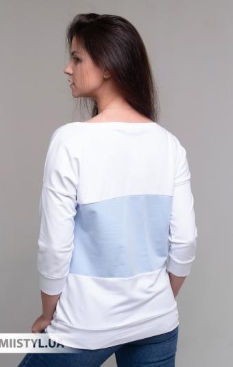 Блуза Giocco 7074 Белый/Голубой