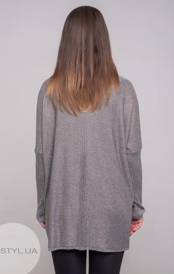 Кардиган Serianno 10C4020 Темно-серый/Люрекс