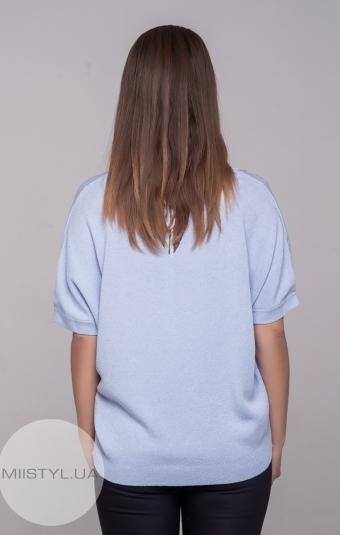 Джемпер короткий рукав Serianno 10C3572 Светло-голубой