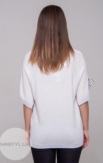 Блуза Serianno 10C5094 Белый/Люрекс