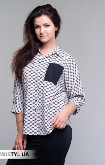 Блуза Merkur 0525040 Бежевый/Черный/Принт