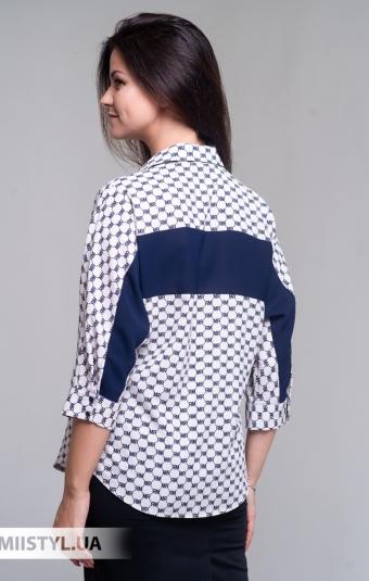 Блуза Merkur 0525040 Бежевый/Темно-синий/Принт