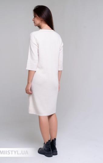Платье Serianno 10С6982 Молочный/Люрекс
