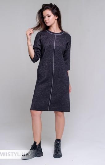 Платье Serianno 10С6982 Черный/Люрекс