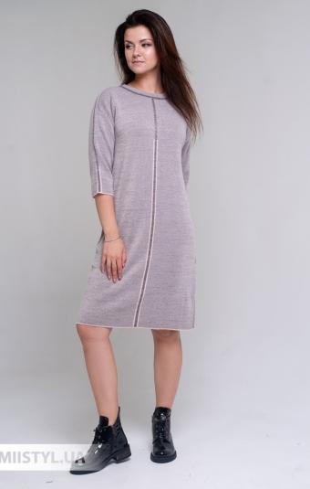 Платье Serianno 10С6982 Пудра/Люрекс
