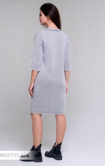 Платье Serianno 10С6982 Серый/Люрекс