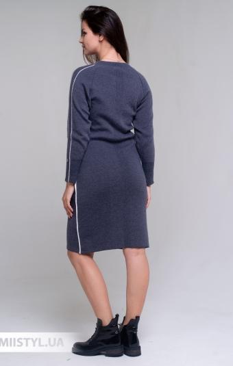 Платье Serianno 10С7060 Темно-серый