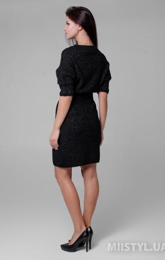 Платье Serianno 10С6728 Черный/Люрекс