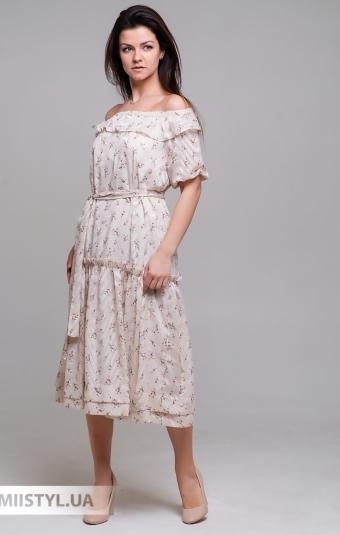 Платье La Julyet 6597 Бежевый/Принт