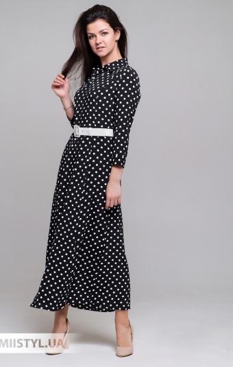 Платье La Luce 20Y0787 Черный/Белый/Горох