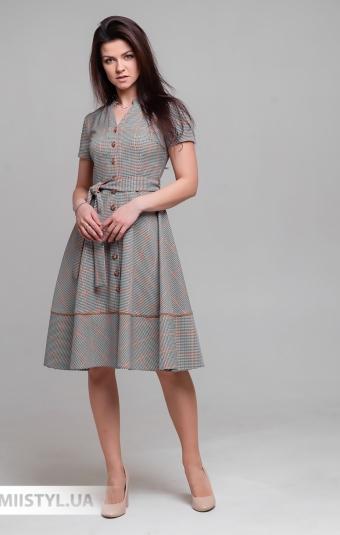 Платье Lady Morgana 5016 Черный/Терракотовый/Лапка