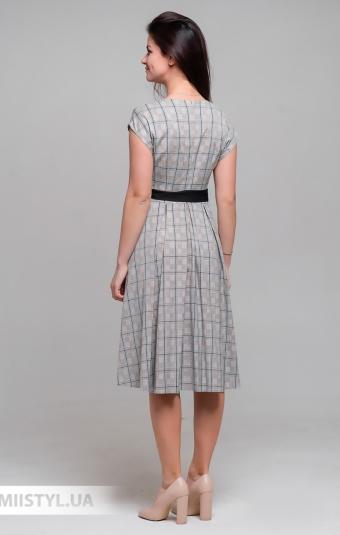 Платье Lady Morgana 5026 Серый/Кемел/Клетка