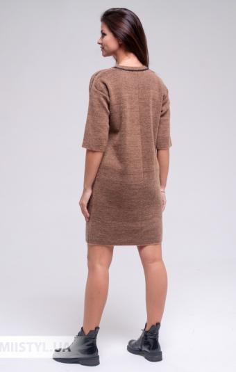 Платье Serianno 10С6982 Темно-бежевый/Люрекс