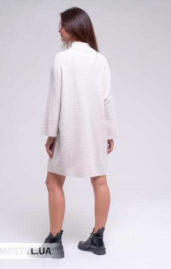 Платье Serianno 10С7796 Молочный/Люрекс