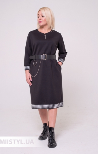 Платье La Fama 8002 Темно-синий/Принт