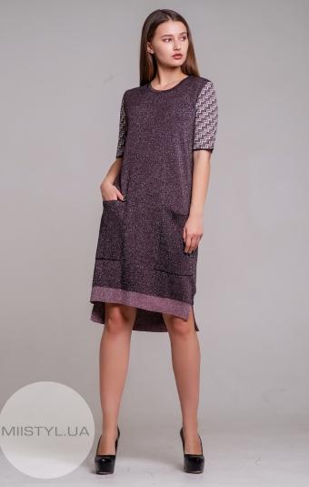 Платье Serianno 10С5184 Фиолетовый/Люрекс