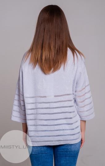 Блуза Serianno 10C5104 Светло-серый/Люрекс