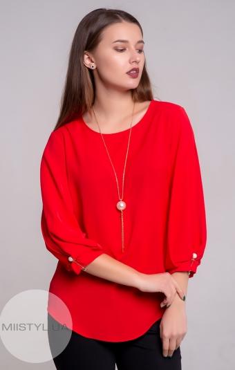 Блуза SHN 4344 Красный