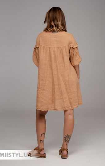 Блуза Moda Linda 3071 Оранжевый/Белый/Горох