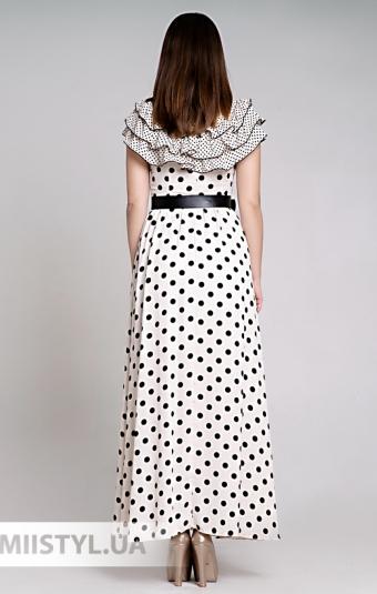 Платье La Julyet 6386 Бежевый/Черный/Горох