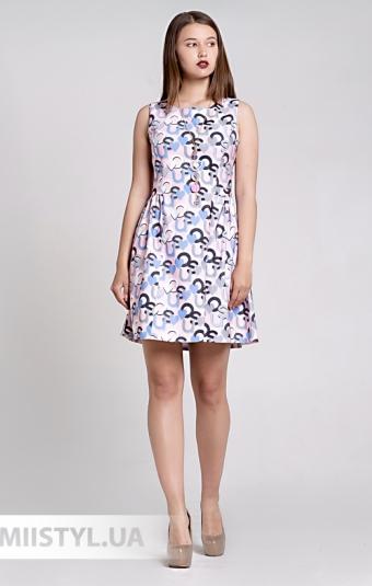 Платье La Fama 1329 Розовый/Принт