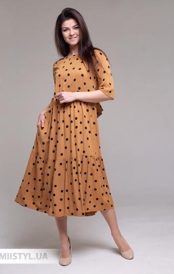 Платье Miss Lilium 20Y10939 Кемел/Горох