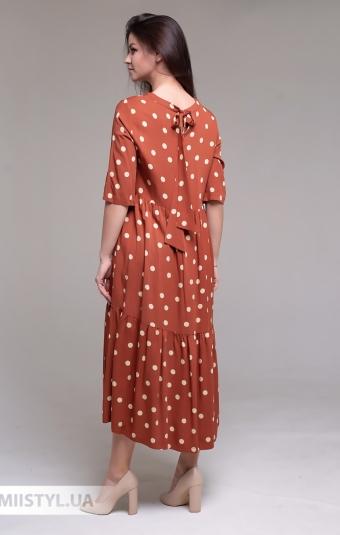 Платье Miss Lilium 20Y10939 Терракотовый/Горох