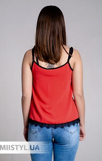 Блуза La Fama 1107 Коралловый/Черный