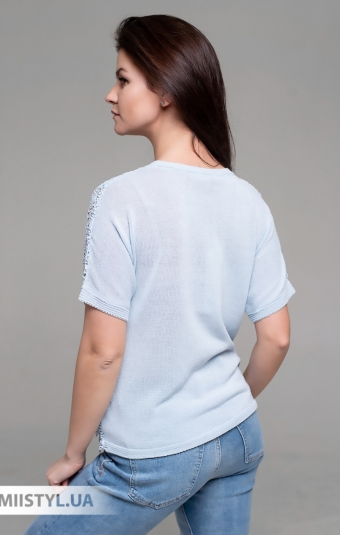 Блуза Serianno 10C7534 Голубой/Люрекс