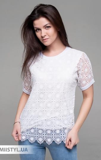 Блуза Serianno 10C7534 Белый/Люрекс