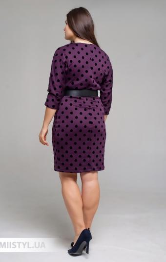 Платье F&K 3443B Баклажановый/Черный/Горох